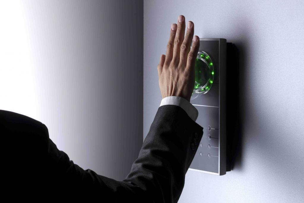 INTUS 1600PS palm vein authentication system for access control