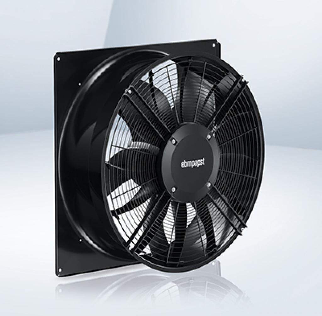The axial fan AxiBlade is used in evaporators, condensers and heat exchangers.