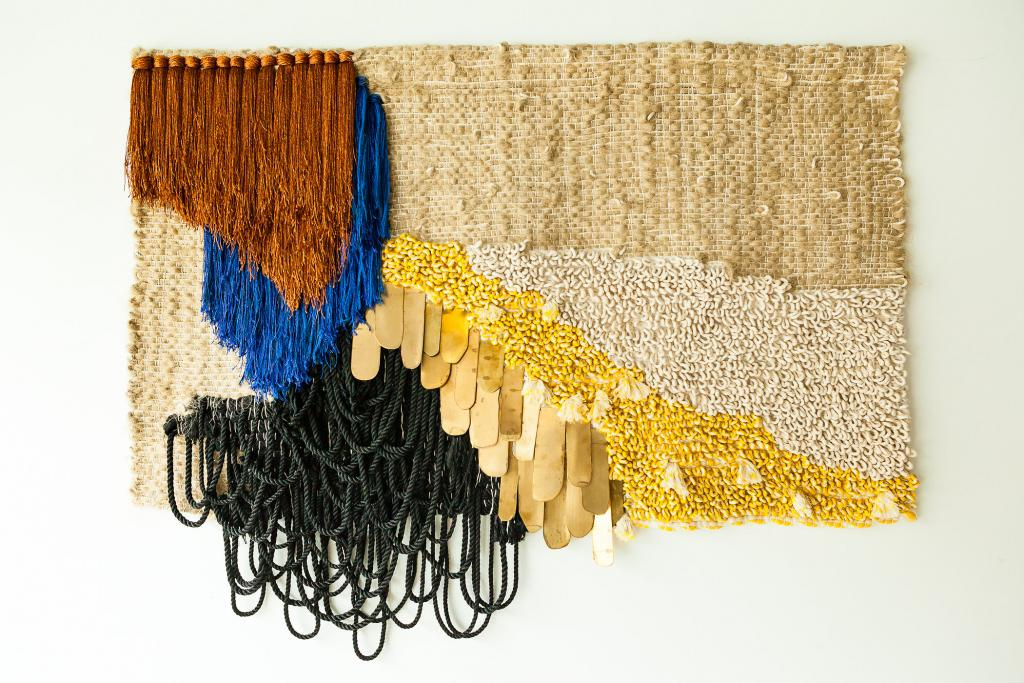 Textile work by LA artist Janelle Pietrzak at the New California Craft exhibition. Photo: Chudo Nomi