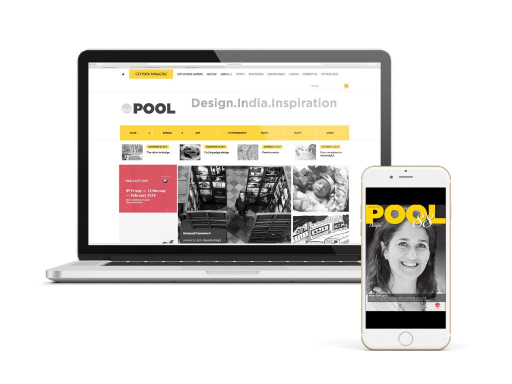 Pool is available to read digitally, on desktops, and on mobile phones.
