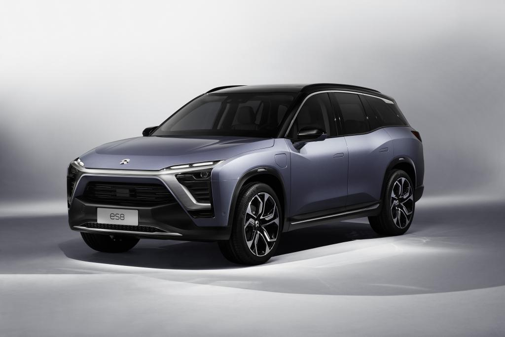 The NIO ES8 - a 7-seater high performance electric SUV.