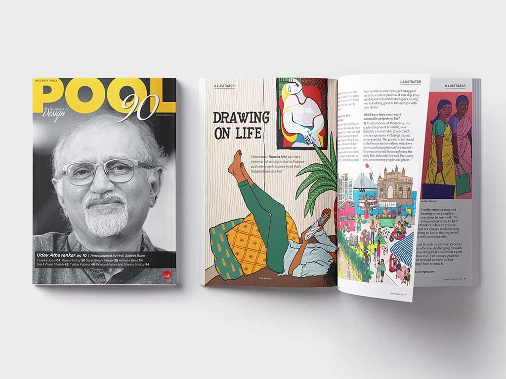 Pool magazine, Indi Design's passion project- aims to bring a stage to Design in Indi.