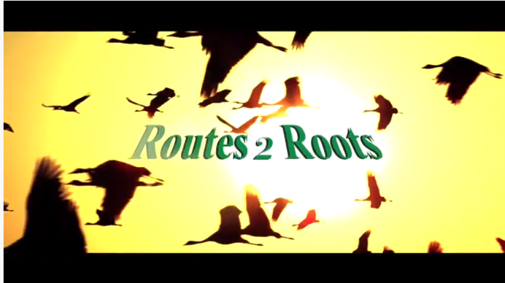 "The video is about the origin of Routes 2 Roots with the principle - ""the world is one family""."