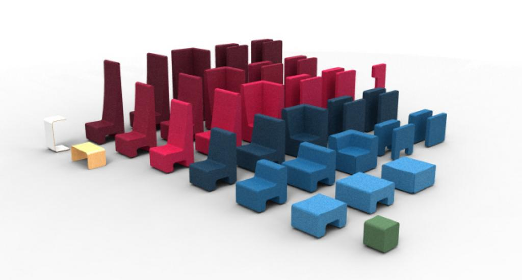 AHREND LOUNGESCAPE  'LEGO for architects', that's what Loungescape, a soft seating programme that we