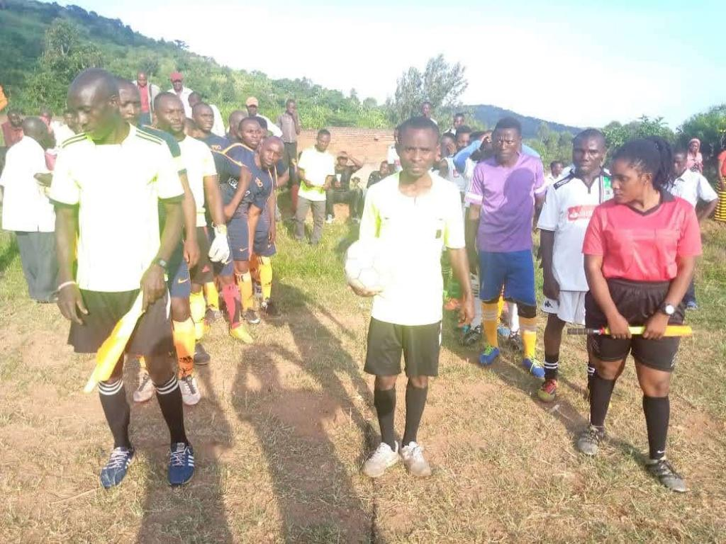 Community friendly match during campaigns against teenage pregnancies in April 2021