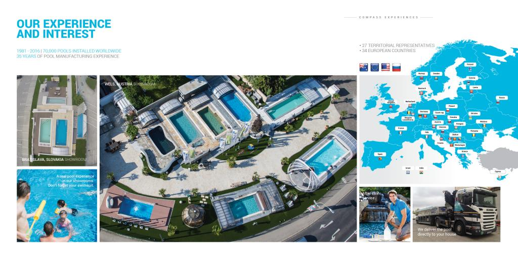 A pool manufacturing company with 35 years of experience.