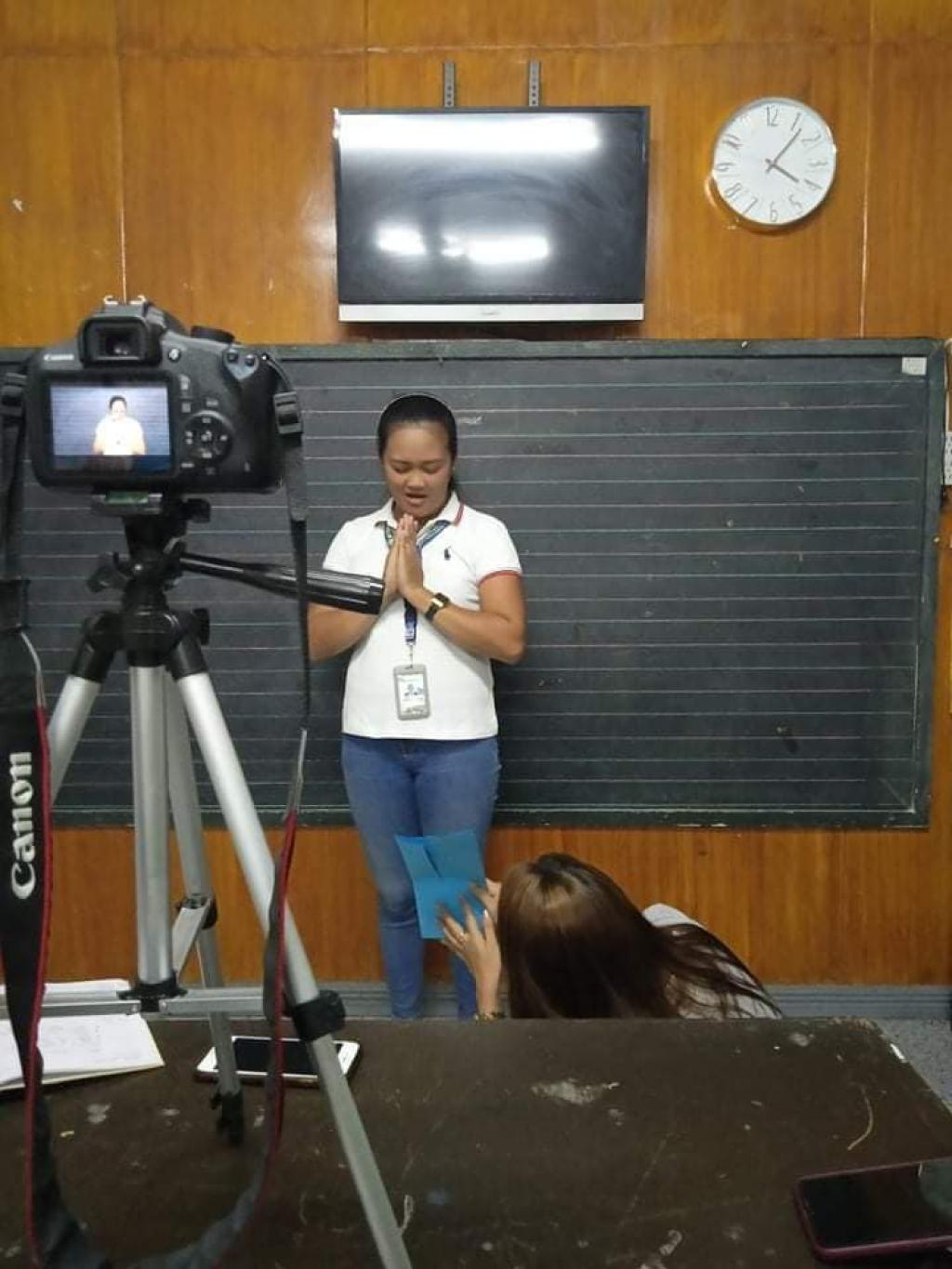 Recording of video for online class