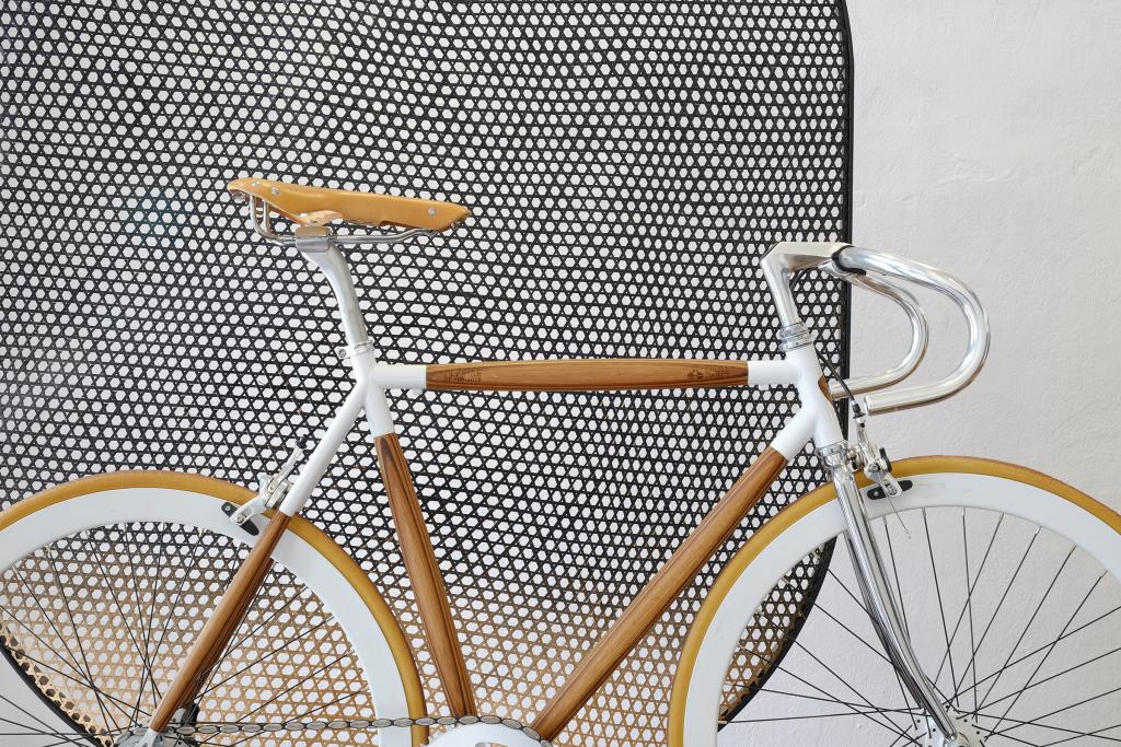 dots wooden bicycle