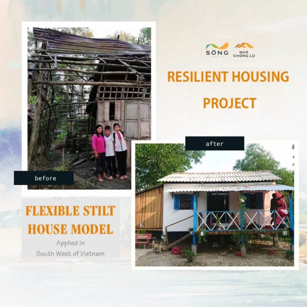We design different house models adapting to local disaster characteristics