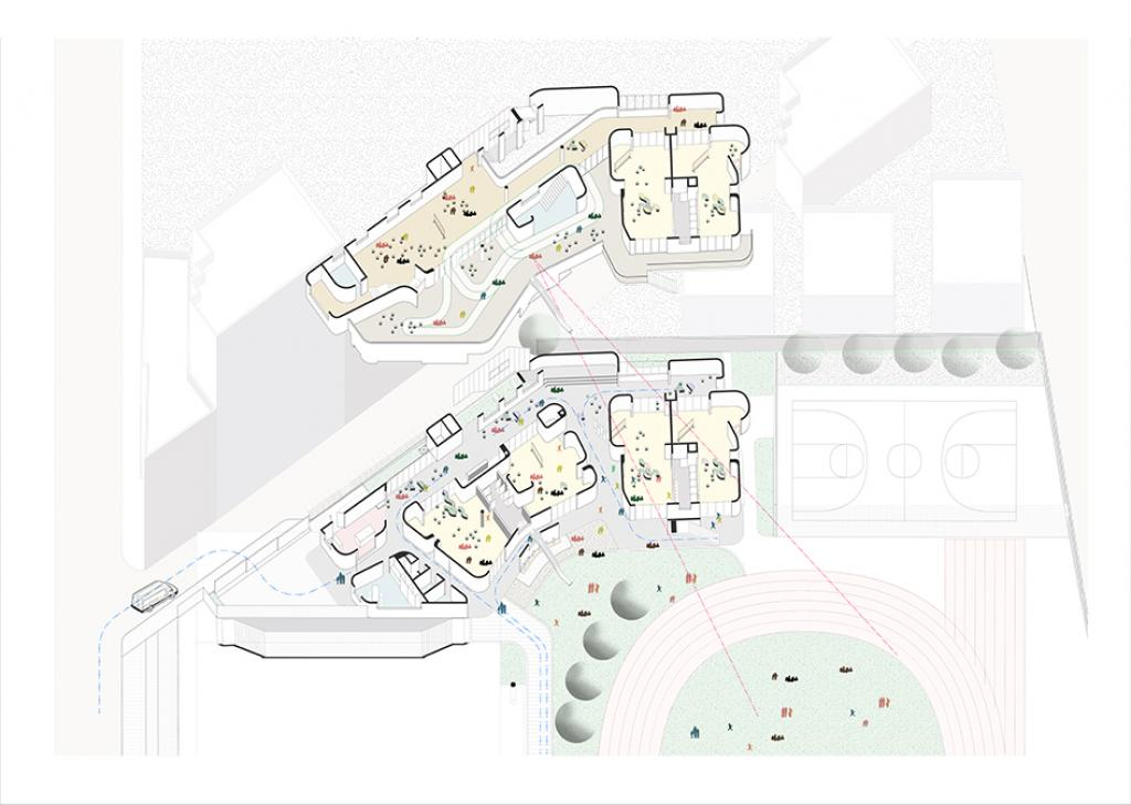 Located in Hsinchu city, Taiwan, the project is a renovation of elementary school campus.