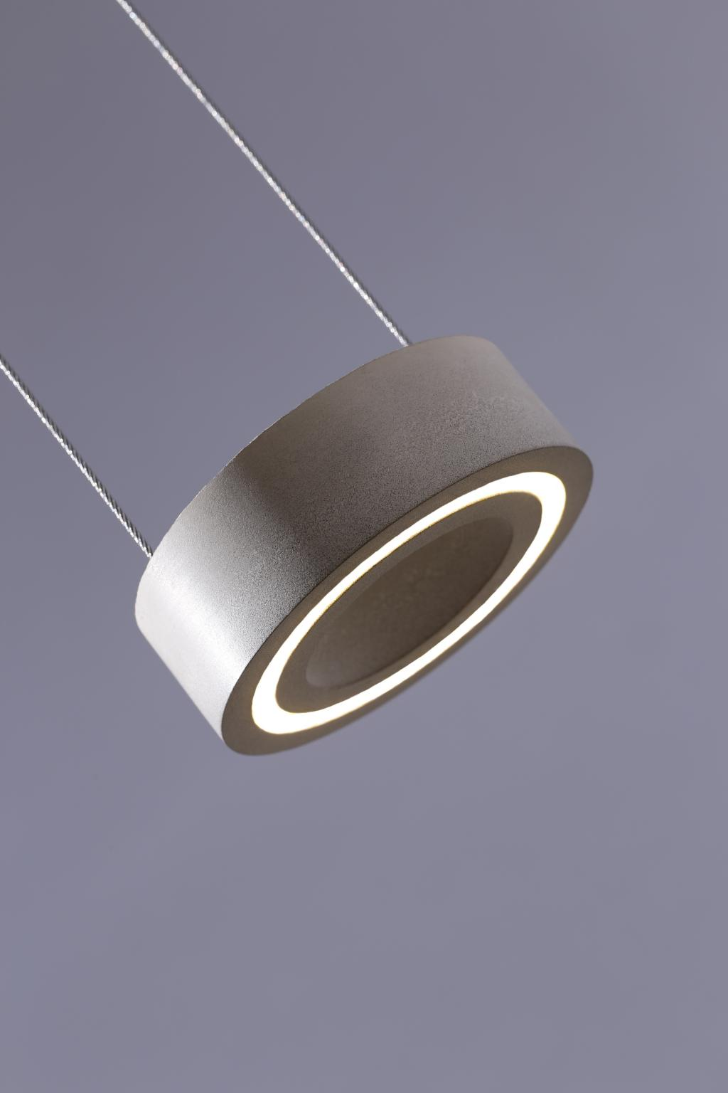 ALBLUXX Oculus. Pendant luminaire made of concrete with cutting edge LED technology