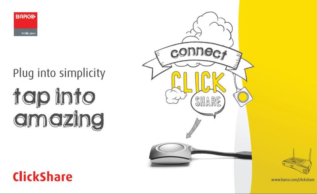 Watch how to share your big ideas with ClickShare here