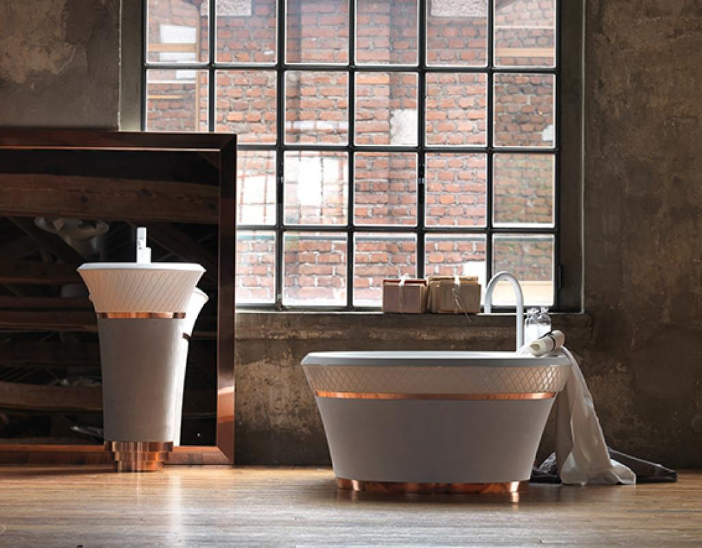 Handmade and George are two new bathroom collections designed by Michael Schmidt for Falper.