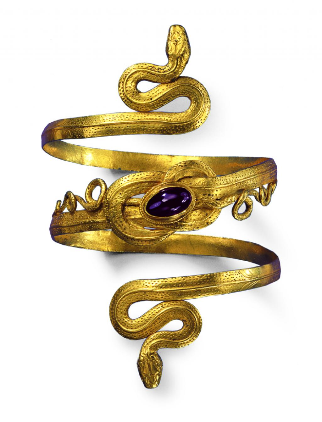 Greek-hellenistic snake bracelet | Gold, garnet | 3rd-2nd CBC | (c) SMP, Photo Günther Meyer