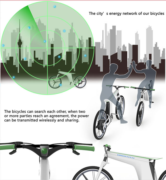 Touch Of ECO Cycle Lite Solar Powered Bike Light
