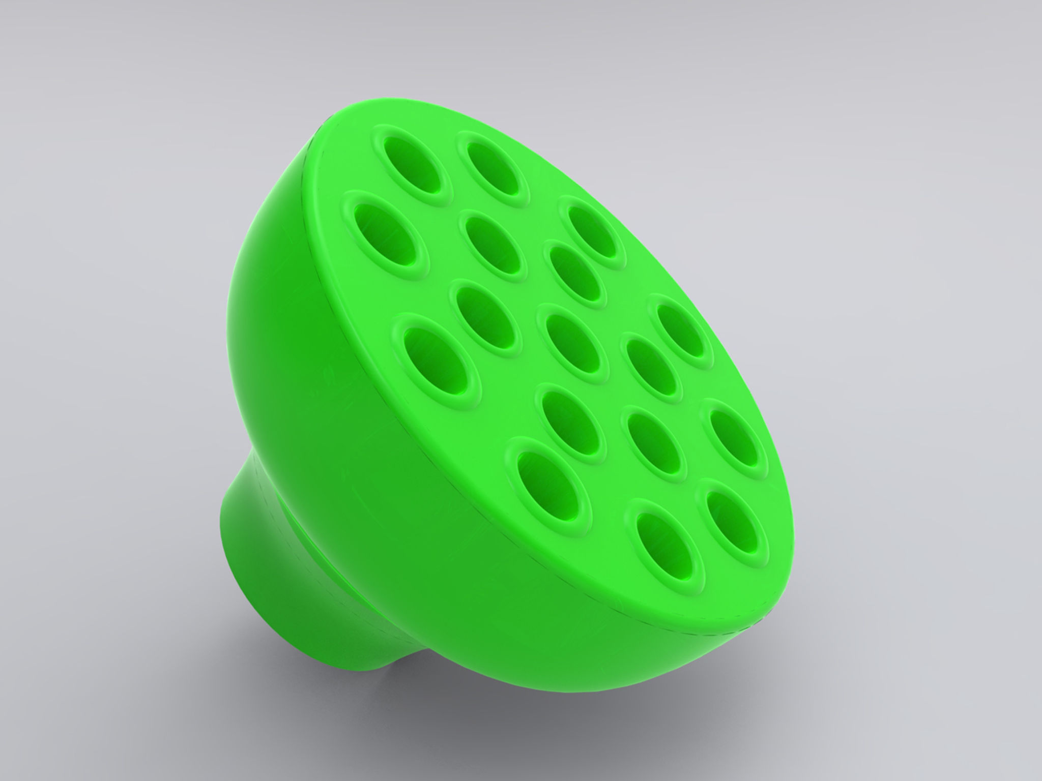 MAM Training Brush With Safety Shield Green