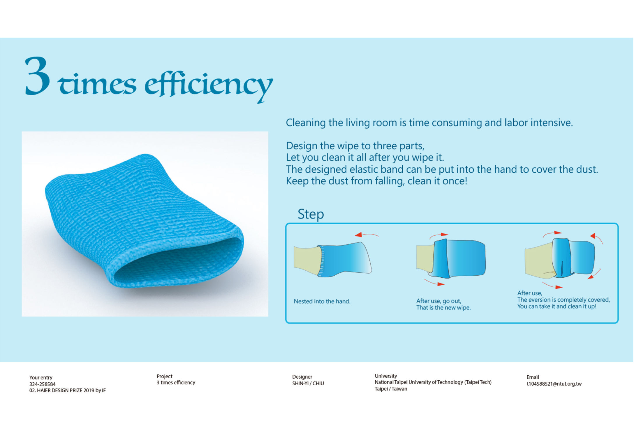 3 times efficiency | iF WORLD DESIGN GUIDE