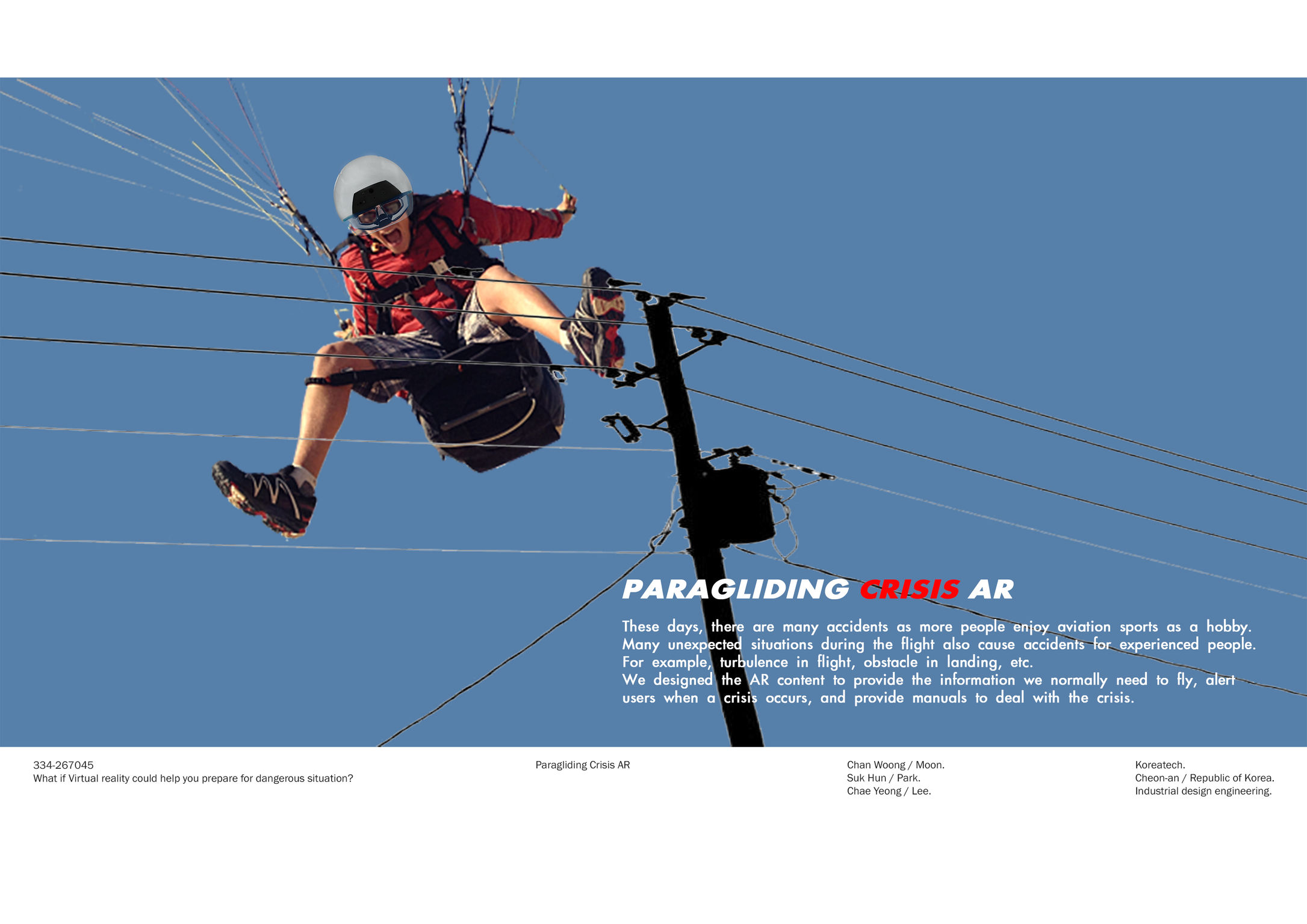 Paragliding Crisis AR | iF WORLD DESIGN GUIDE
